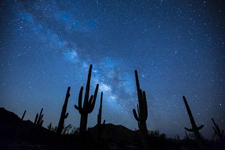 landscape mountains sky night
